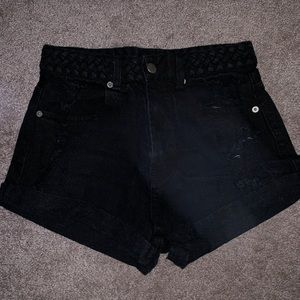 black shorts from local boutique